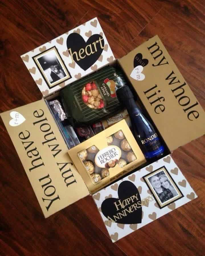 Pin By Toni Ann Dawson On Crafts Gifts Anniversary Care Package