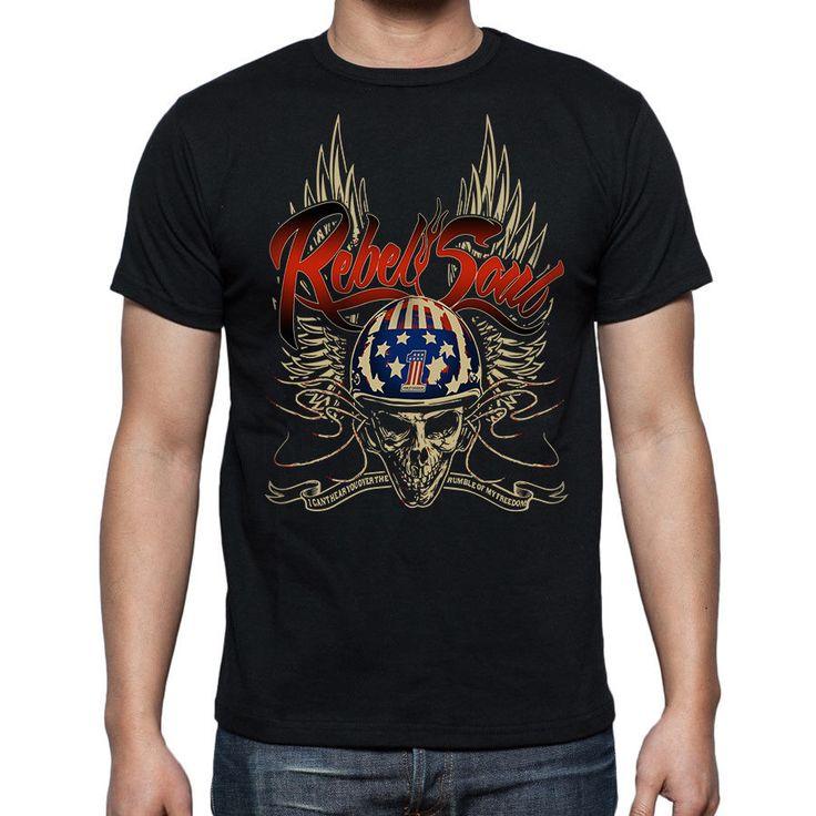 Harley Davidson   Rebel Soul Logo   Man Black T-shirt