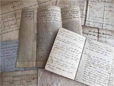 Early 19hC Documents and Diary Langstaffe Family listed on eBay with luvjoysantiques