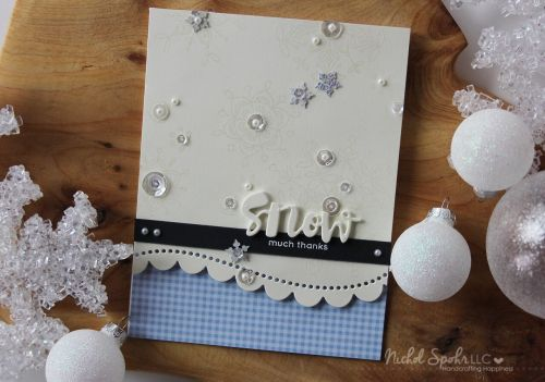 Nichol Spohr LLC: Simon Says Stamp January 2017 Card Kit | Snow Much Thanks Card + GIVEAWAY