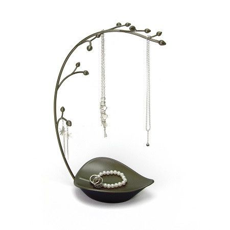 ORCHID JEWELLERY TREE  $24.99 Orchid Jewelry Tree features 12 jewelry hooks and a leaf shaped dish to hold rings, bracelets, or watches.