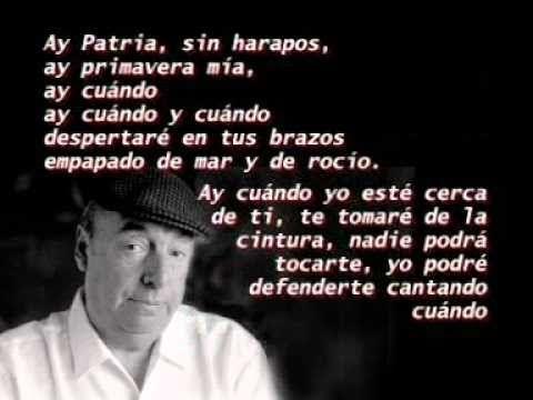 Cuando de Chile - Poema de Pablo Neruda - YouTube