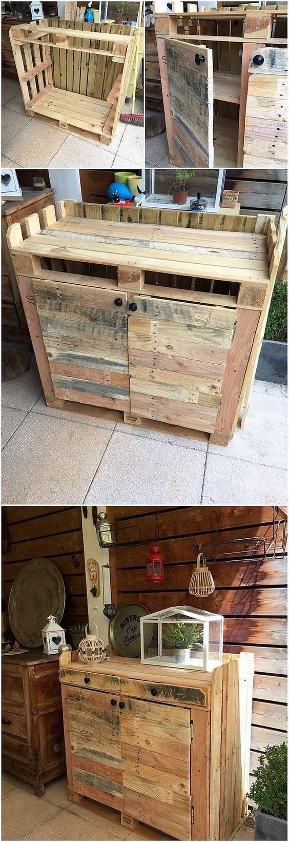 Haben Sie schon einmal darüber nachgedacht, Ihre Küche mit dem Schrankdesign zu versehen, das aus Holz besteht? Holzpalette ist das bisher beste Material, das Sie bei der Gestaltung des Küchenschranks verwenden können. Es bietet den Geschmack der Gehäuseteile im unteren Bereich des Designs