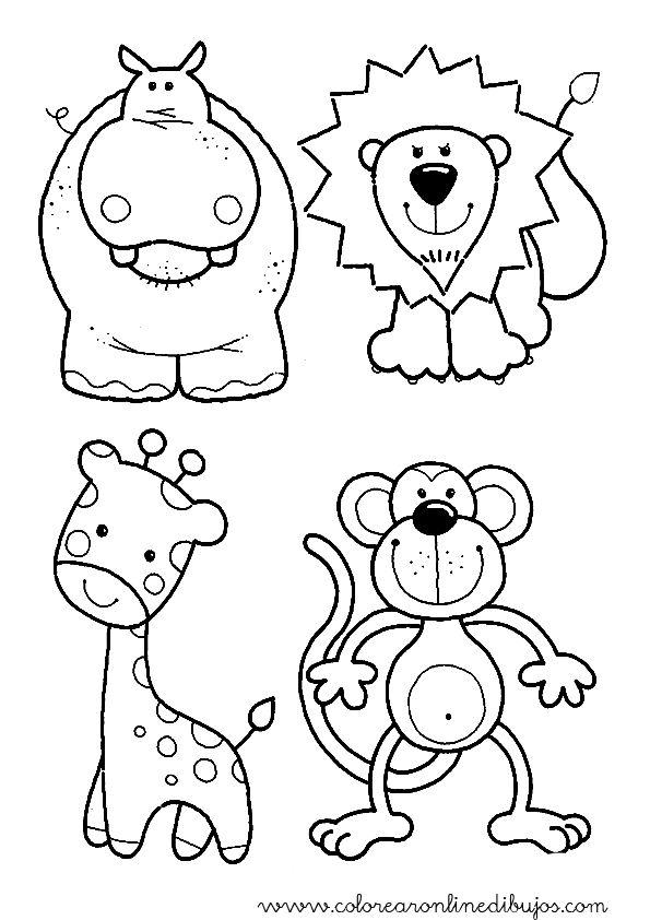 dibujos para colorear de animalitos de la selva - Buscar con Google