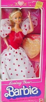 1984 Barbie ti voglio bene hemm la mia non è proprio messa così bene...