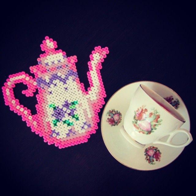 Tea Time hama perler beads by tamatek