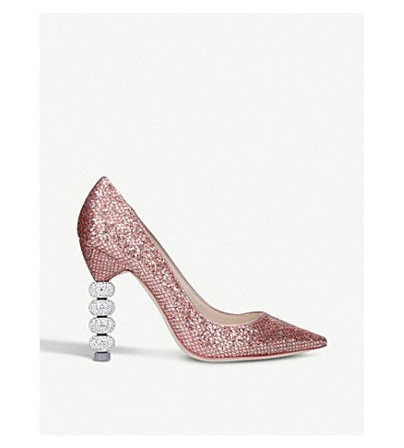 SOPHIA WEBSTER | Coco Crystal metallic court shoes #Shoes #Heels #Courts #High heel #SOPHIA WEBSTER