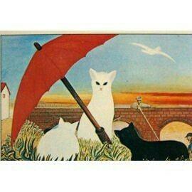 """""""Les chats sous l'ombrelle rouge""""Ferdinand Desnos"""