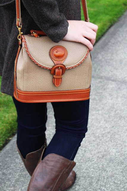 Vintage Dooney and Bourke Satchel...love it with the jacket and boots