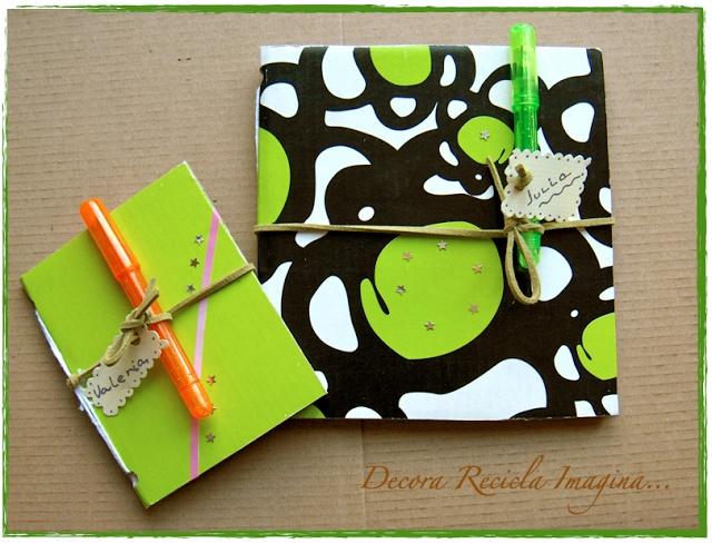 Decora Recicla Imagina …: Cuadernos reciclados.                              …