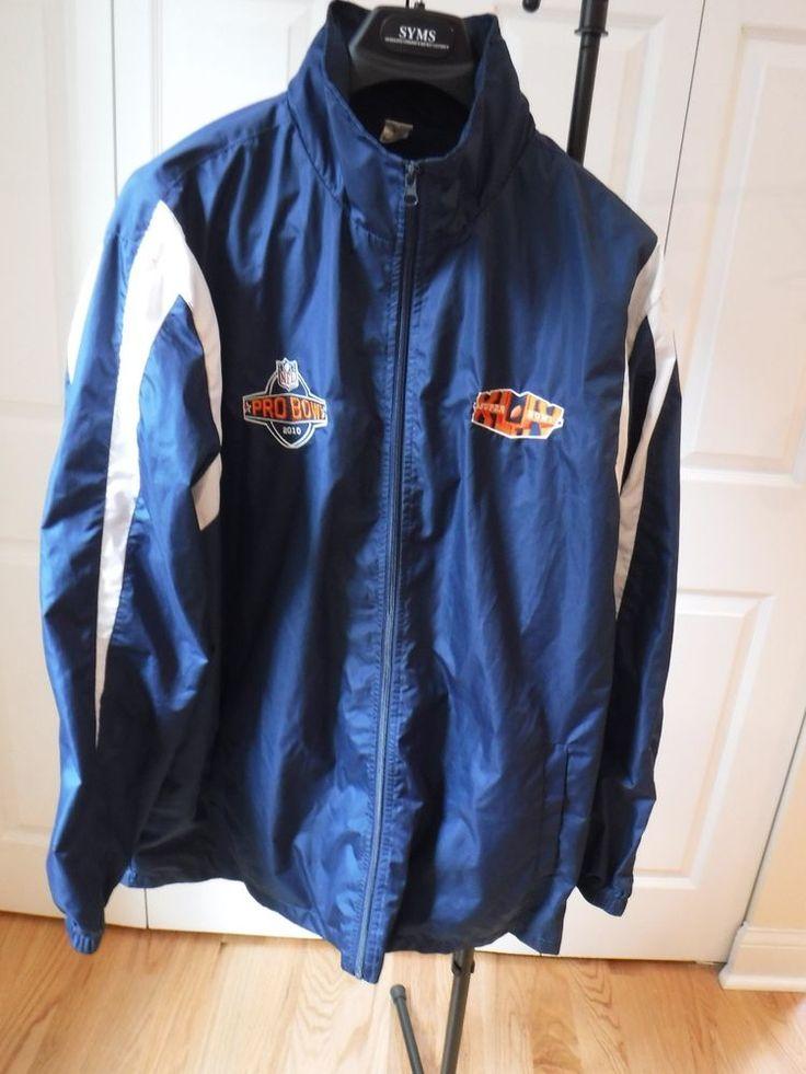 NFL Pro Bowl 2010, Super Bowl XLIV Men's Weatherproof Jacket (XL) w/ Hidden Hood #NFL #Windbreaker