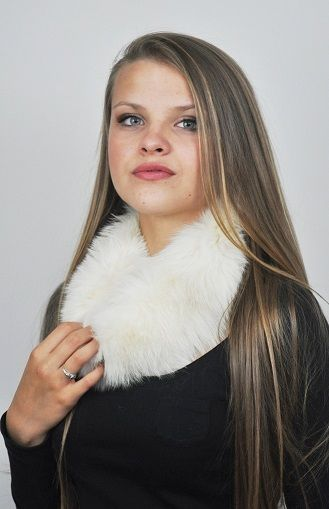 Scaldacollo pelliccia in volpe bianca  www.amifur.com