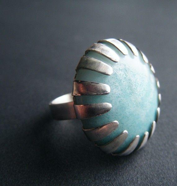 Beautiful prong, perfect for stones and enamels - Un ottimo spunto per incastonare a giorno una pietra o un elemento in rame smaltato