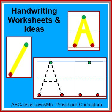 Free Handwriting Worksheets in a five step progression. Lots of great resources on this site, it's a homeschooling program that has many free printables in developmental sequence. My fieldwork supervisor printed a copy then put them in clear page protectors so kids could write on them with dry-erase markers then it could be easily erased and reused without making a ton of copies.