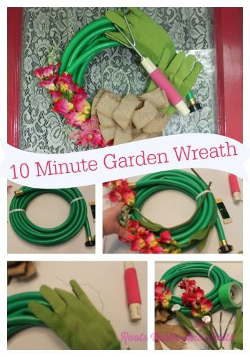 Wannabee Shutterbug Creates a Garden Hose Wreath - Roots North & South