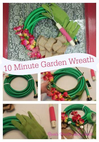 Wannabee Shutterbug Creates a Garden Hose Wreath - Roots North & South