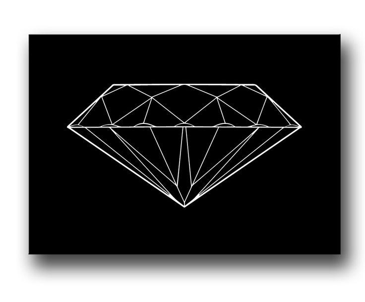 Diamant canvastavla - Fashion Posters & Prints