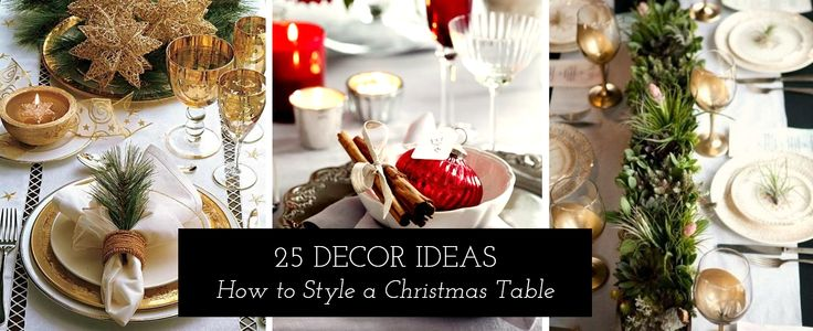 How to Style a Christmas Table – Designer TIPS!