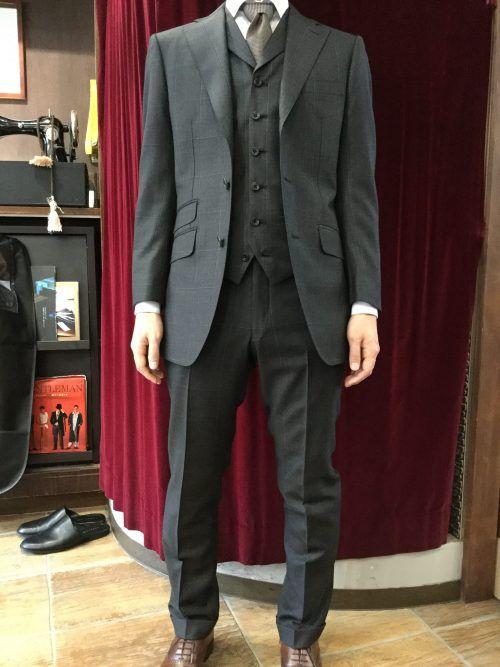 ウインドペーン3ピーススーツ