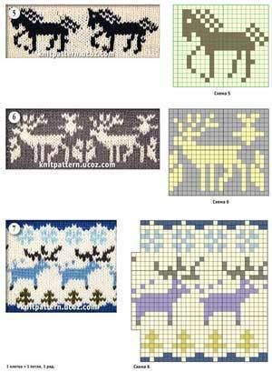 2607 best 2 images on pinterest jacquard patterns with a thematic pattern horse and deer knitting ccuart Gallery