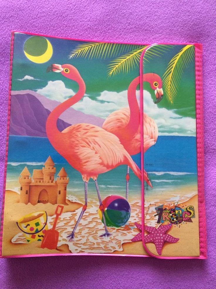 Lisa Frank Vintage 1989 Flamingo Trapper Keeper Binder #LisaFrank