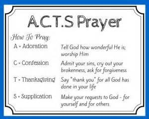 aCTS prayer printable - Yahoo Search Results