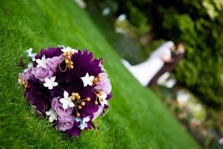 Dahlia wedding bouquet pictures