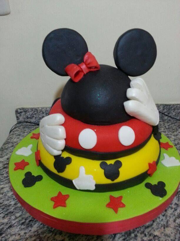 Torta infantil de Mickey and Minnie