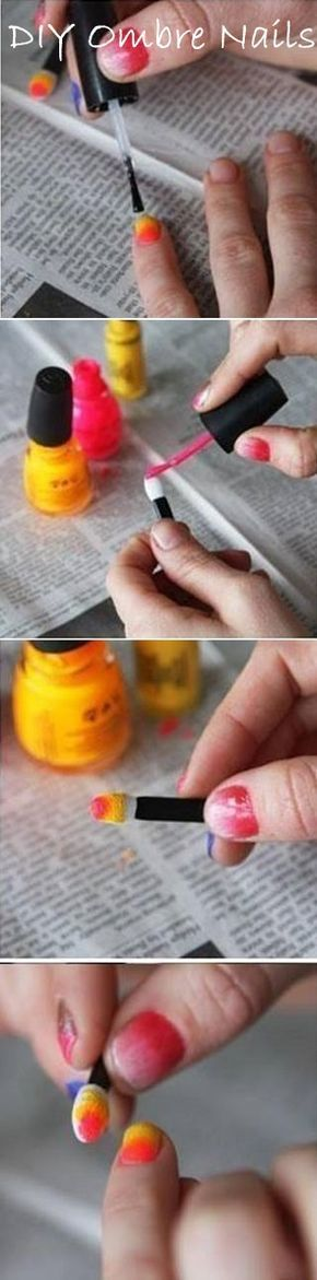 Want ombré nails but don't have a sponge? Don't worry there's a solution!