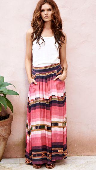 Binny maxi skirt as seen on Nina Proudman Offspring