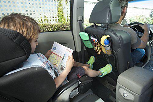 Sidekick – Protectores contra patadas para asiento de coche – 2 unidades – Mantenga los respaldos de los asientos del coche protegidos contra los pies sucios de niños – Complete con organizadores prácticos tipo bolsillo.   Bebe Tienda