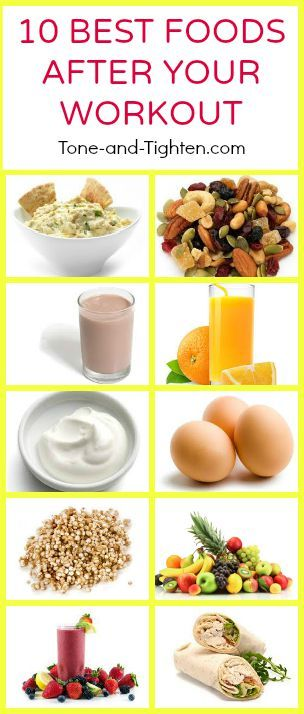 10 Best Foods to eat after a Workout from Tone & Tighten.com!