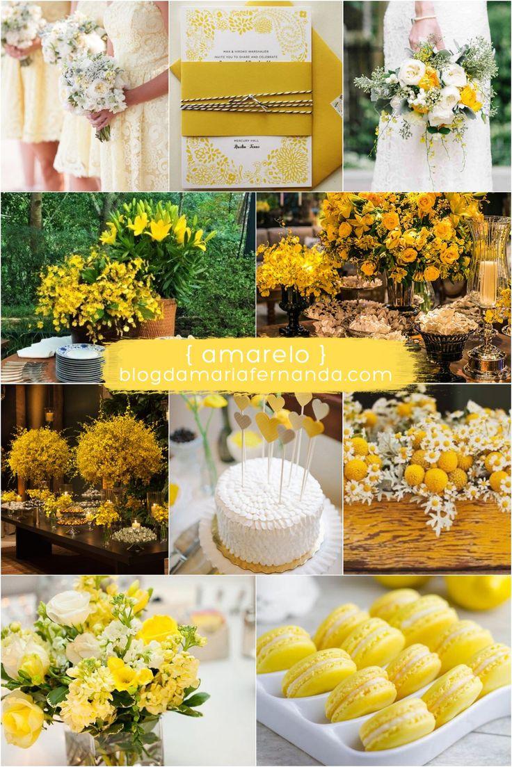Decoração de Casamento Paleta de Cores Amarela