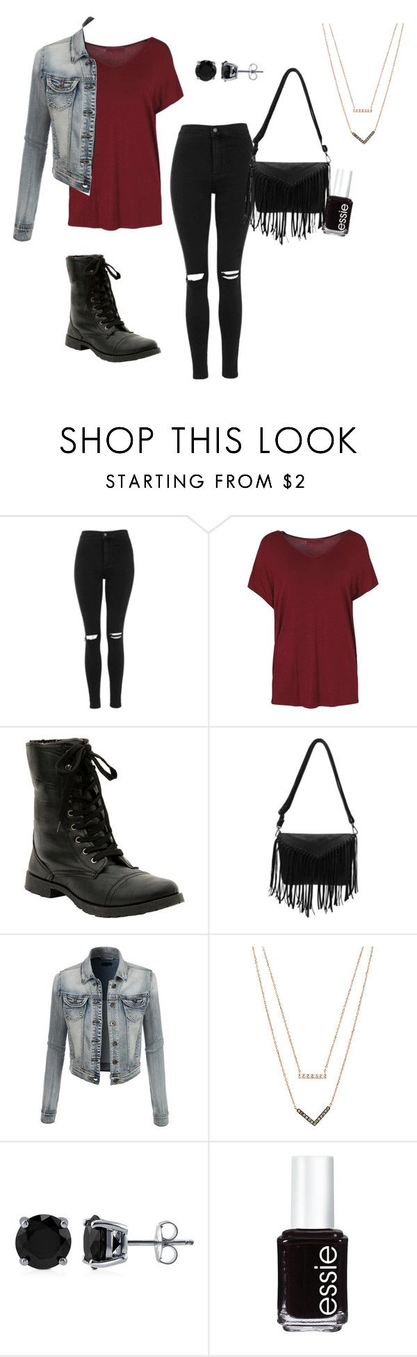 """""""Emily Fields - Inspired Outfit - PLL"""" by pll-blog on Polyvore featuring Topshop, LE3NO, Michael Kors, BERRICLE, Essie, women's clothing, women's fashion, women, female and woman"""