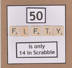 Lidy's Place: 50 jaar kaart man en vrouw - 50th birthday card ma...