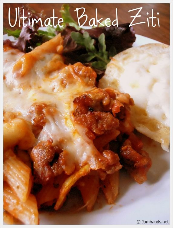 Jam Hands: Baked Ziti with Sausage and Sour Cream