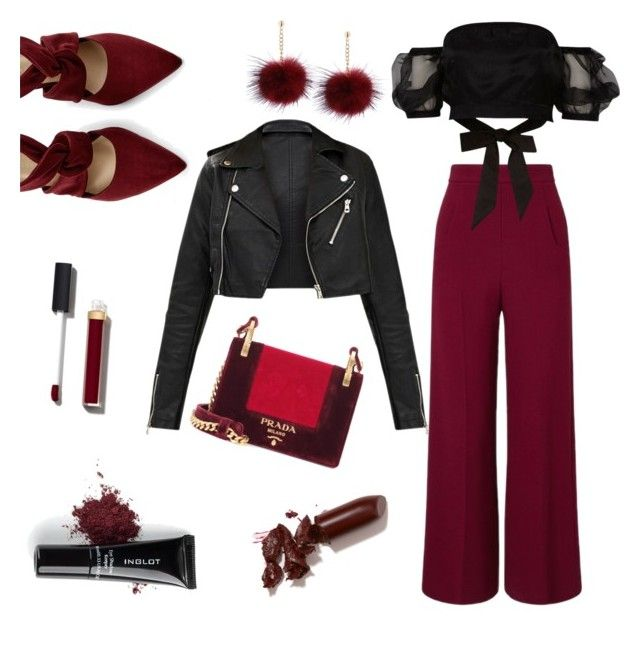 """""""Untitled #12"""" by lillus-lako-ll on Polyvore featuring Prada, Inglot, Roland Mouret, River Island, Chanel and LAQA & Co."""