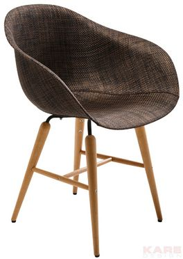Chair with Armrest Forum Wood Brown