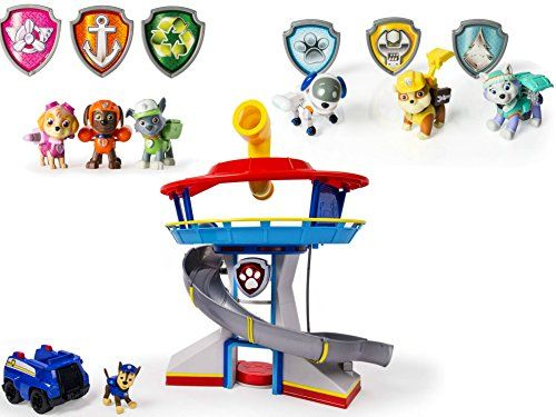 Nickelodeon Paw Patrol  LookOut Playset Vehicle and Figure with Paw Patrol 6Piece Action Pack Pups Figure Set Bundle * See this great product.