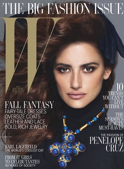 Penelope Cruz W Magazine September 2012