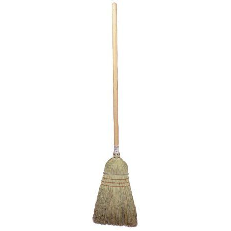 Upright ; Whisk Brooms, 18 in Trim L, Broom Corn/Rattan, Multicolor