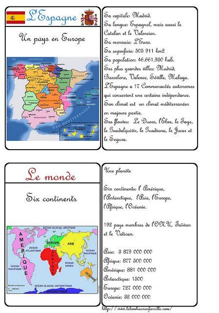Cartes d'identité - pays Espagne et le monde