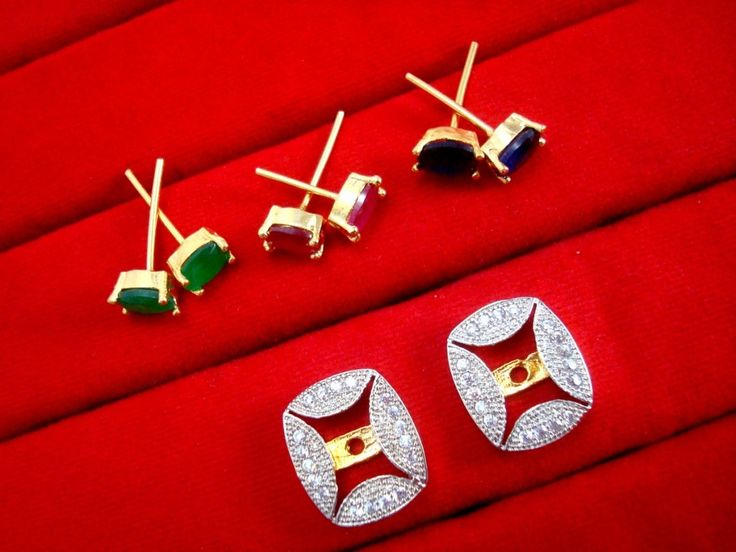 Fashionable SixInOne Changeable Zircon Earrings for Women, Best Anniversary Gift  - FRAME
