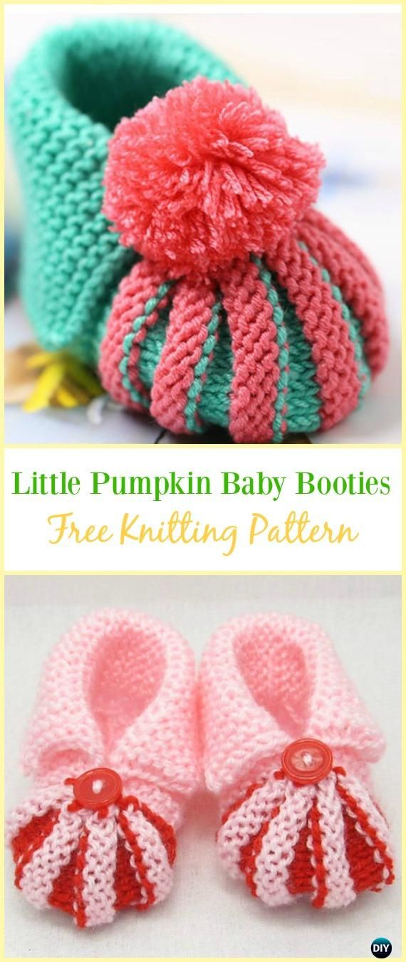 d119a0b9feb7 Knit Baby Slipper Booties Free Patterns