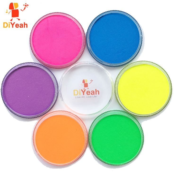Aliexpress.com : Buy 30g Neon Face Paint Color Black Light Body Paint Face Painting maquillage Halloween Makeup schmink UV Pigment Art Model Marker from Reliable marker liner suppliers on DiYeah Store