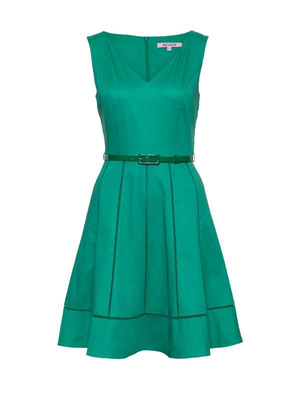 Review Australia | Battenburg Dress Evergreen