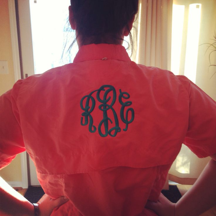 Monogrammed fishing shirt monograms pinterest for Monogram fishing shirt
