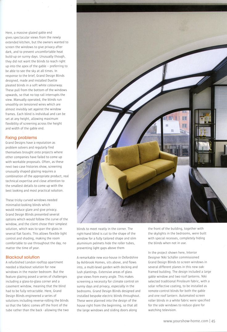 Check out this excellent case study featuring the cleverly designed blinds by Grand Design Blinds. granddesignblinds.com Showhome December-January 2018