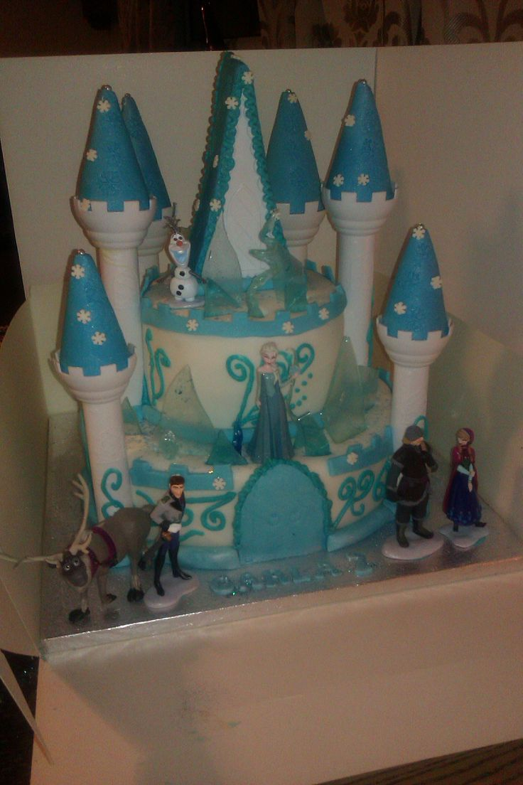 Disney Themed Cakes Disney Frozen Castle Cake Cake