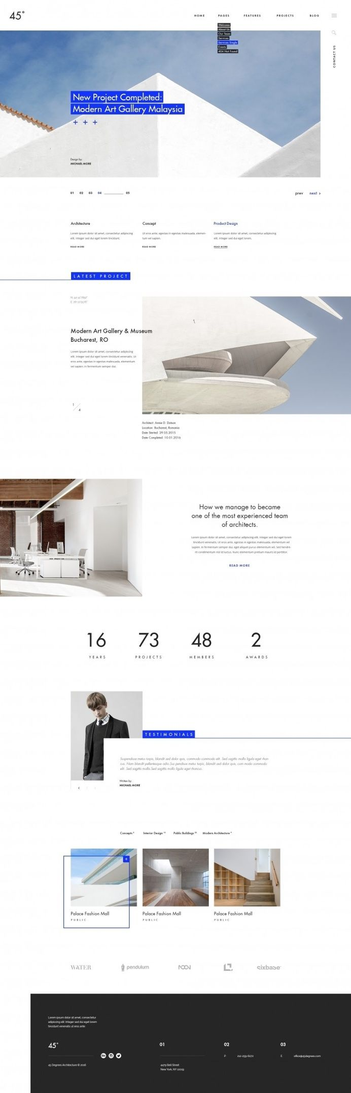 45 degrees – Architecture Studio in Web design